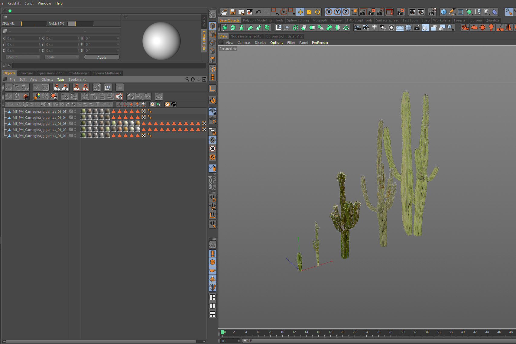 How to create and set up corona proxies in Cinema 4D | rendertaxi blog