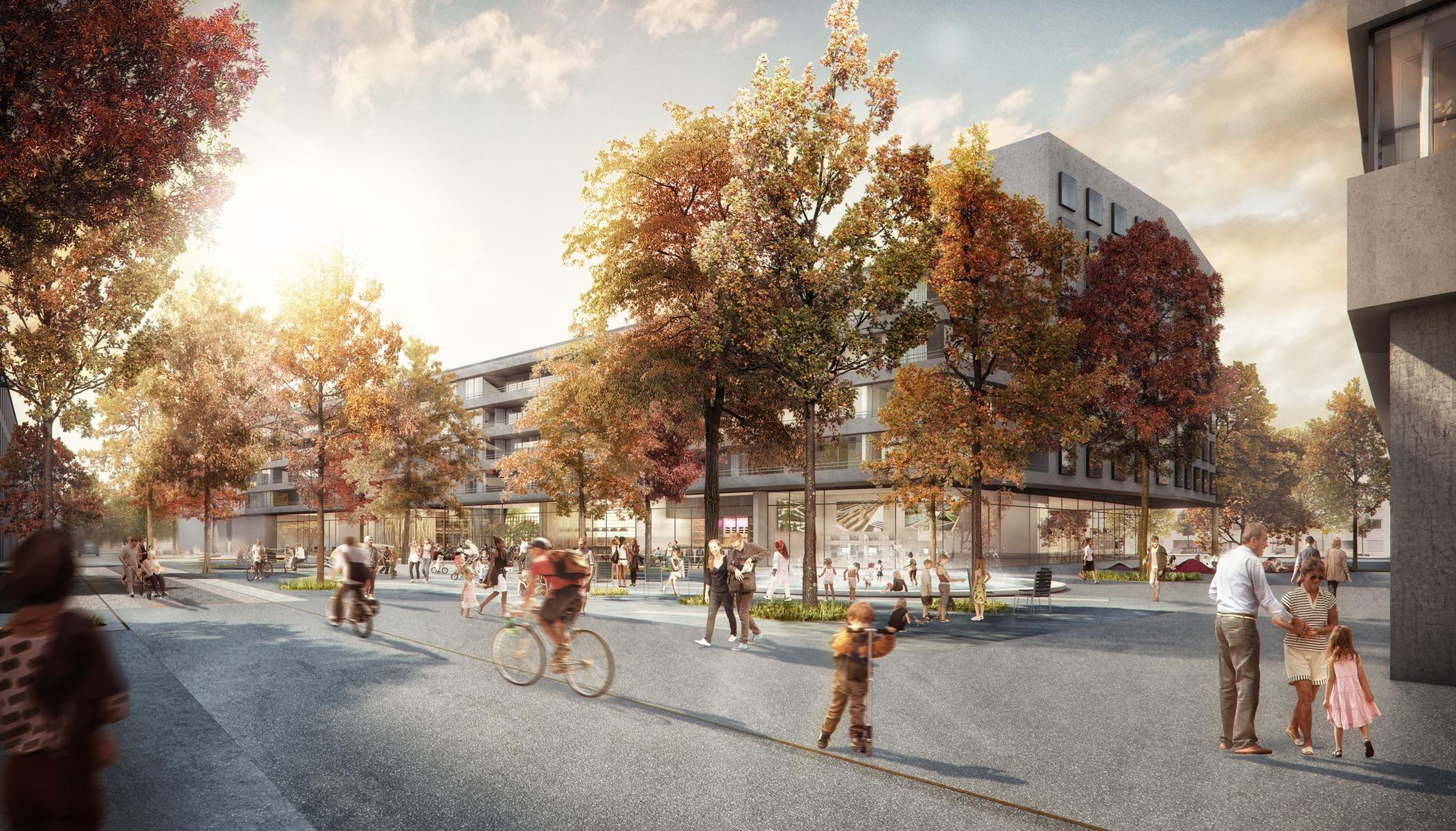 U bahnplatz riem m nchen unit price rendertaxi for Wohnzimmer riem